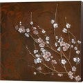 Janet Tava 'Cherry Blossoms on Cinnabar I' Canvas Art