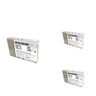 INSTEN Epson T545600 LM Magenta Cartridge Set (Remanufactured) (Pack of 3)