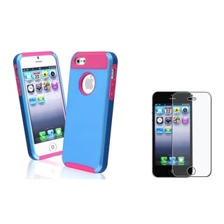 BasAcc Hybrid Case/ Anti-Glare Screen Protector for Apple iPhone 5/ 5S
