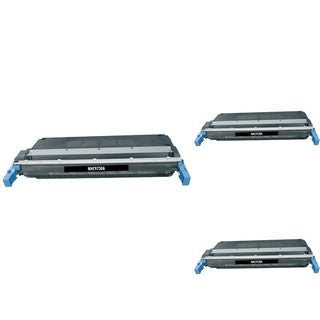 INSTEN Black Cartridge Set for HP C9730A (Pack of 3)