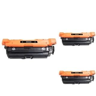 INSTEN Black Cartridge Set for HP CE264X (Pack of 3)