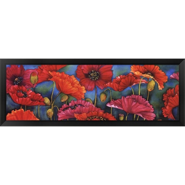 Helen Downing-Hunter 'Poppy Parade' Framed Canvas Art