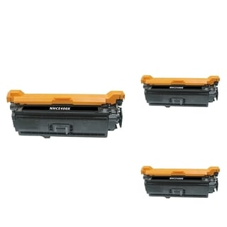 BasAcc Black Cartridge Set Compatible with HP CE400X (Pack of 3)
