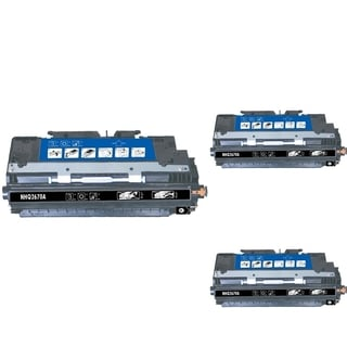 INSTEN Black Cartridge Set for HP Q2670A (Pack of 3)