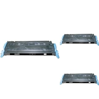 INSTEN Black Cartridge Set for HP Q6000A (Pack of 3)