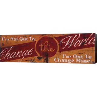 Rodney White 'Change The World' Canvas Art