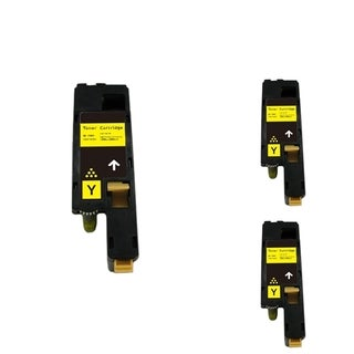 INSTEN Yellow Cartridge Set for Dell 1250 (Pack of 3)