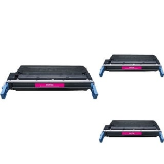 INSTEN Magenta Cartridge Set for HP C9723A (Pack of 3)