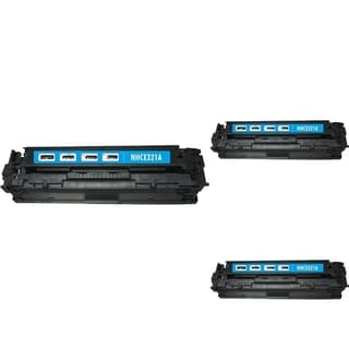INSTEN Cyan Cartridge Set for HP CE321A (Pack of 3)