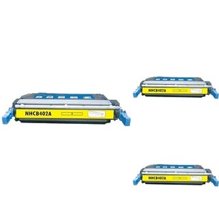 INSTEN Yellow Cartridge Set for HP CE402A (Pack of 3)