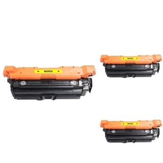 INSTEN Yellow Cartridge Set for HP CF032A (Pack of 3)