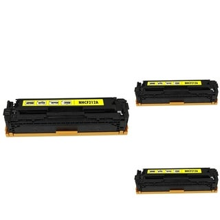 INSTEN Yellow Cartridge Set for HP CF212A (Pack of 3)