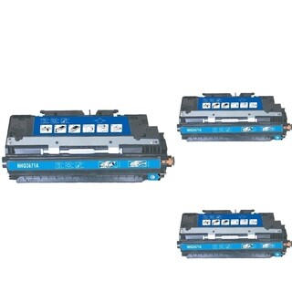 INSTEN Cyan Cartridge Set for HP Q2671A (Pack of 3)