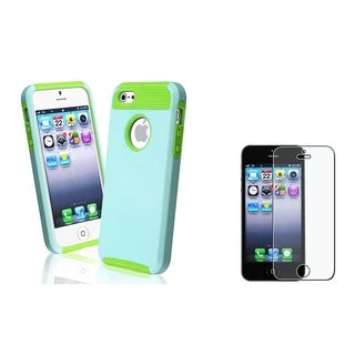 INSTEN Hybrid Phone Case Cover/ Anti-glare Screen Protector for Apple iPhone 5/ 5S