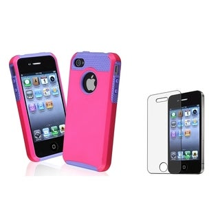 BasAcc Hybrid Case/ Anti-Glare Screen Protector for Apple iPhone 4/ 4S