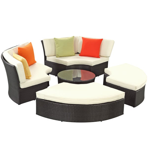 Pursuit Circular Outdoor Wicker Rattan Sofa Set