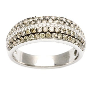 14k White Gold 1ct TDW Brown and White Diamond Band (H-I, I1-I2)