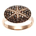 18k Gold 3/4ct TDW Brown and White Diamond Starburst Ring (H-I, I1-I2)