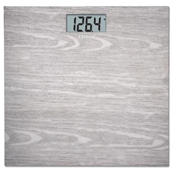 Taylor Stainless Steel Wood Grain Bath Scale