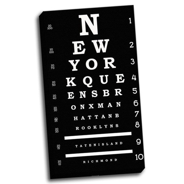 'New York Inspired Eye Chart' Wall Art