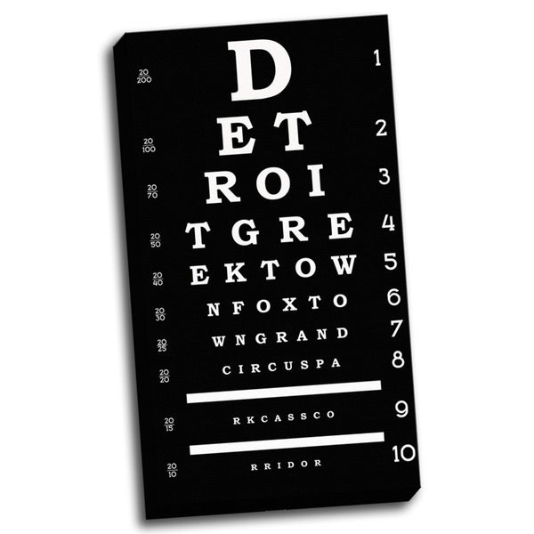 'Detroit Inspired Eye Chart' Wall Art