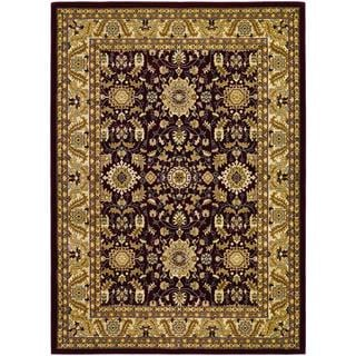 Anatolia Power-loomed Antique Kashan/ Red-Cream Area Rug (5'3 x 7'6)