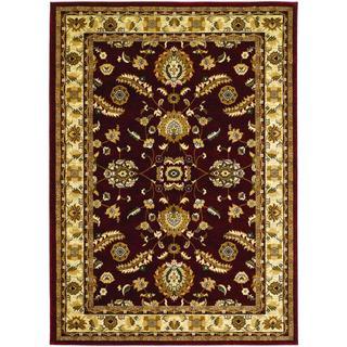 Anatolia Power-loomed Floral Heriz/ Red-Cream Area Rug (5'3 x 7'6)