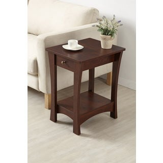 Furniture of America Amber Single Drawer Vintage Walnut End Table