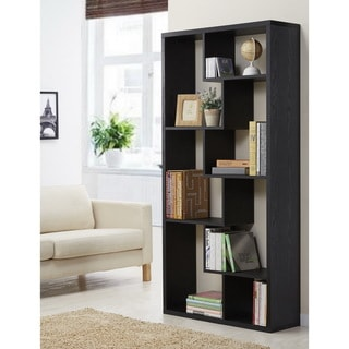 Furniture of America Channary Vintage Walnut Multi-shelving Bookcase-Display Unit