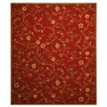 EORC Euro Home OS560 Red  Rug (3'11 x 5'3)