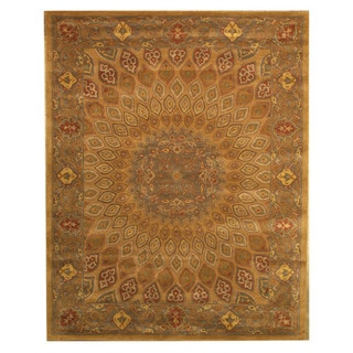 EORC Hand-tufted Wool Gold Gombad Rug (9'6 x 13'6)