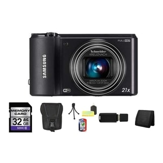 Samsung WB800F Smart 16.3MP Wi-Fi Cobalt Black Digital Camera 8GB Bundle