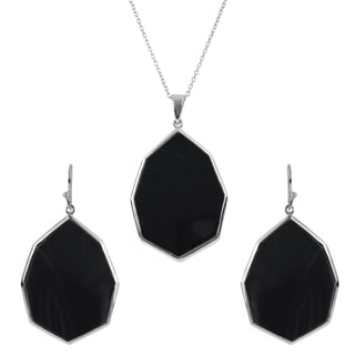 Tressa Collection Women's Sterling Silver Agate Jewelry Set