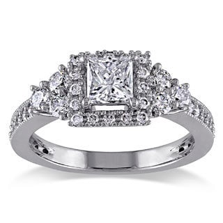 Miadora Signature Collection 14k White Gold 1ct TDW Princess-cut Diamond Ring (G-H, I1-I2)