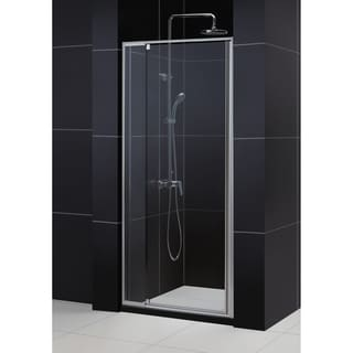 DreamLine Flex Frameless Pivot Shower Door And 32x32 Inch Shower Base Images