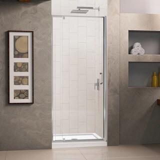 DreamLine Flex Frameless Pivot Shower Door and 32x32-inch Shower Base