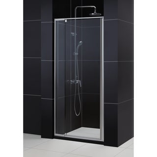 DreamLine Flex Frameless Pivot Shower Door and 36x36-inch Shower Base
