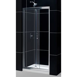 DreamLine Butterfly Bi-Fold Shower Door and 36x36-inch Shower Base