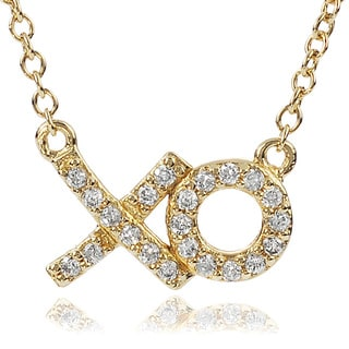 Tressa Collection Sterling Silver Cubic Zirconia 'xo' Necklace