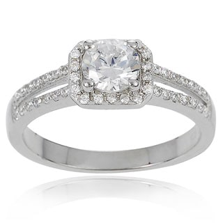 Tressa Collection Women's Sterling Silver Cubic Zirconia Bridal Style Ring
