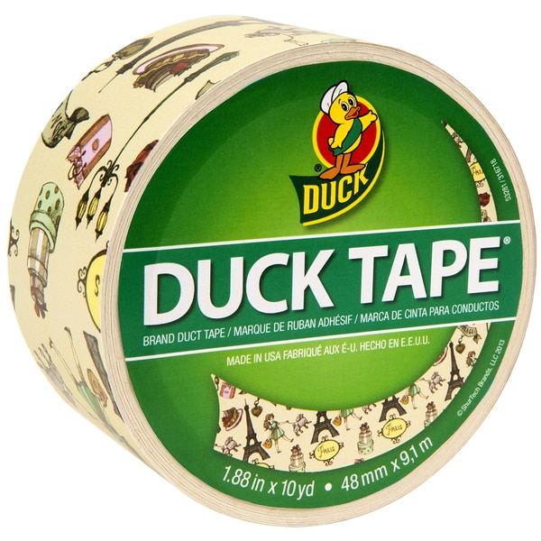 Patterned Duck Tape 1.88inX10yd Paris