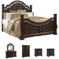 Tuscany 6-piece Mocha Finish King-size Bedroom Set