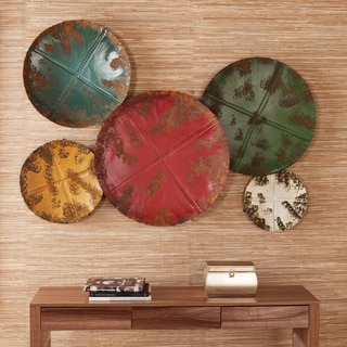 Upton Home Selma Metal Sphere Wall Sculpture 5pc Set