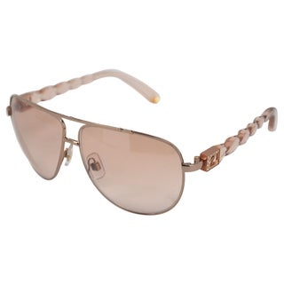 Swarovski Unisex 'SK0003' Silver Crystal Frame Sunglasses