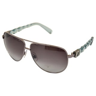 Swarovski Unisex 'SK0003' Brown Crystal Frame Sunglasses