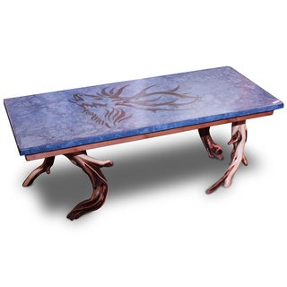 Recherche Furnishings Wildwood Denim Elk Coffee Table