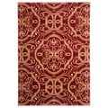 Contemporary Empire Red Area Rug (5'3 x 7'7)