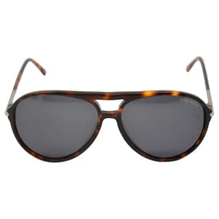 Tom Ford Unisex 'FT0254 54A Matteo' Red Havana Round Sunglasses