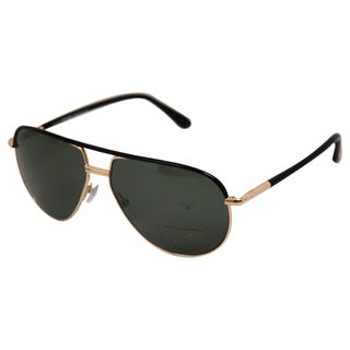 Tom Ford Men's 'FT0285/S Cole' Gold/ Black Aviator Sunglasses