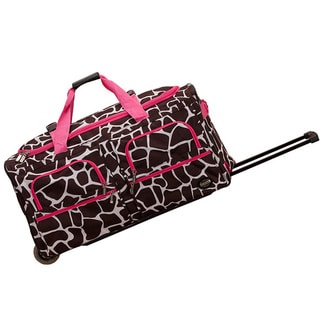 Rockland Deluxe Pink Giraffe Mobilizer Lightweight 30-inch Rolling Upright Duffel Bag